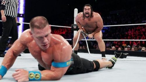Rusev's undefeated streak was ended by Cena in 2015