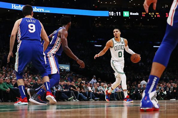 f1f121561 NBA 2018-19  Philadelphia 76ers vs Boston Celtics - Predicted ...