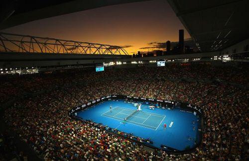 Tennis court at the 2017 Australian Open