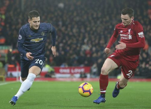 Robertson impressed throughout the game for Liverpool