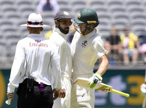 Virat Kohli and Tim Paine got physical during the 2nd Test match at Perth