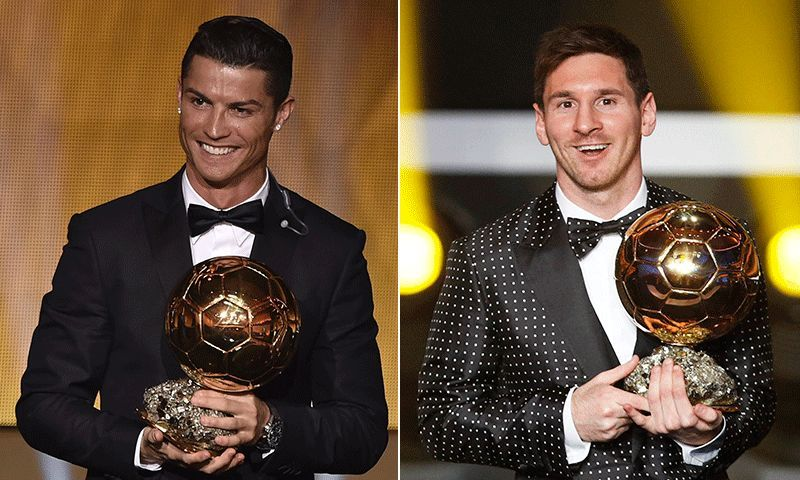 Lionel Messi and Cristiano Ronaldo have 5 Ballon d'Or awards each to themselves