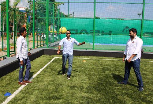 (From Right to Left) Director Tiki Taka, Prahlad Meyyappan; Director HotFut Sports, Pavit Singh; and CEO South United Football Club, Pranav Trehan