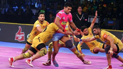 Telugu Titans' defence was in good touch tonight