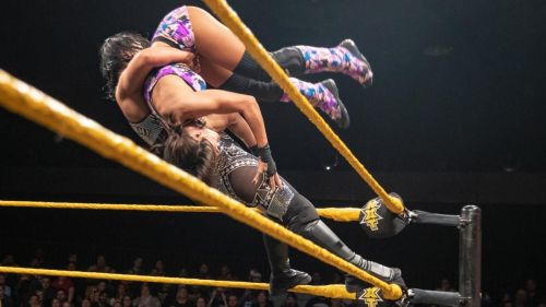 The two women put on, quite possibly, the match of the night