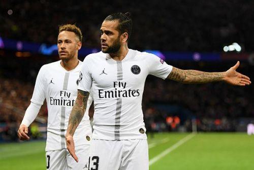 Dani Alves might make his first league start for Paris Saint-Germain this season