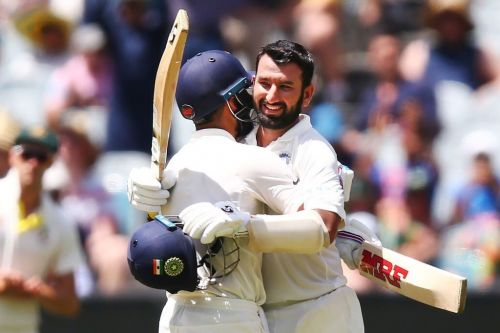 Pujara scored his second century of the series