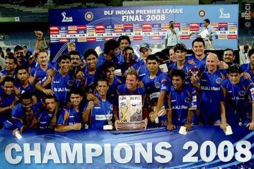 Rajasthan Royals won the inaugural edition of IPL