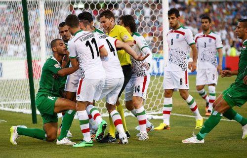 A still from a match between Iraq and Iran
