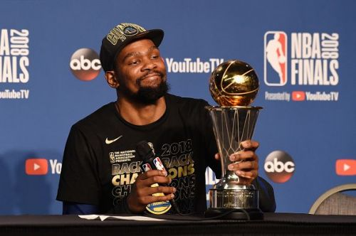 Kevin Durant took home his second Bill Russell Finals MVP trophy