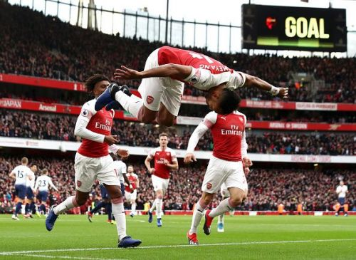 Aubameyang's goals are certainly pushing Arsenal towards at least a top 4 finish this year