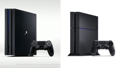 PS4 Pro (left) and PS4 (right)