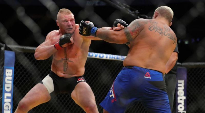 Brock Lesnar returned with a bang that was later mired in controversy