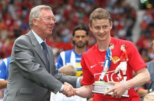 Sir Alex Ferguson with Ole Gunnar Solskjaer