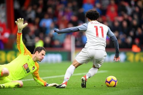 Mohamed Salah completed his hat-trick in a sensational manner against Bournemouth