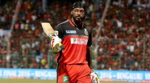 Chris Gayle during his stint with Royal Challengers Bangalore
