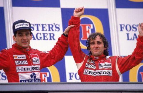 Alain Prost, Ayrton Senna