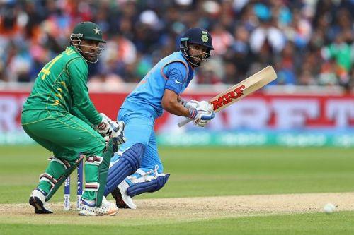 Sarfraz Ahmed and Virat Kohli