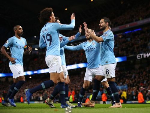 Top of the table: Manchester City