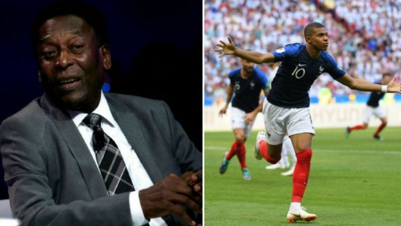 Pele has said he had no role in Mbappe's meteoric rise in football. (Image: Ladbible)