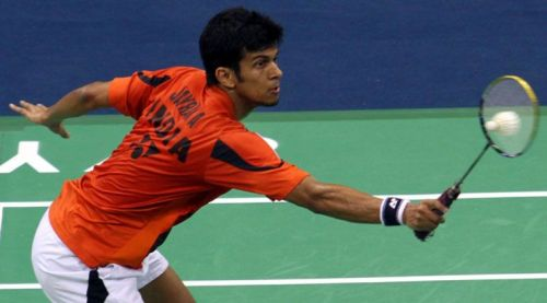 Ajay Jayaram in action during the Korean Open.