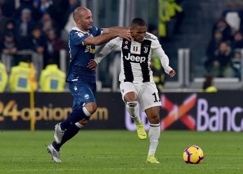 Douglas Costa has started only thrice for Juventus in the league this term