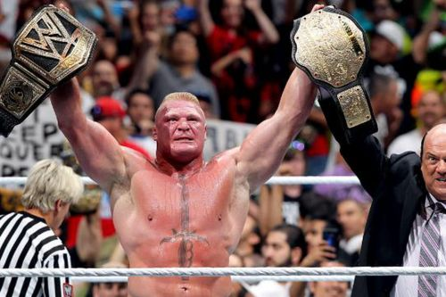 Brock Lesnar rarely loses in his matches.
