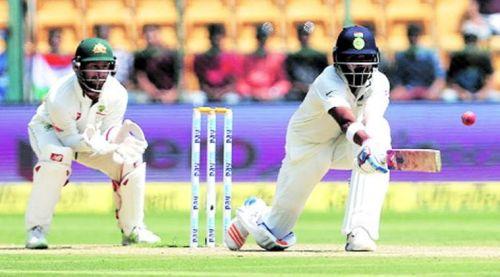 K.L. Rahul scored his maiden century against Australia at Sydney in 2014
