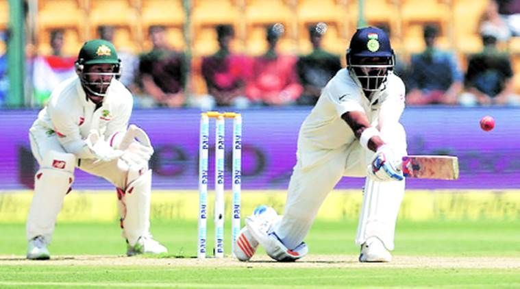 K.L. Rahul scored his maiden century against Australia at Sydney in 2014