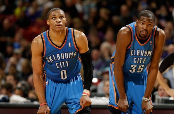 Kevin Durant and Russell Westbrook are among the best Thunder players of all-time