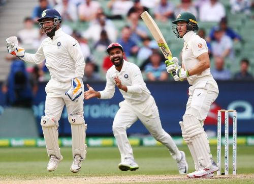 Pant's sharp catch ended Paine's innings