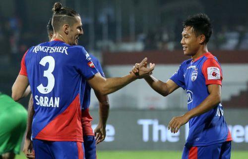 Udanta Singh of Bengaluru FC celebrates after scoring against Mumbai City (Image: ISL)