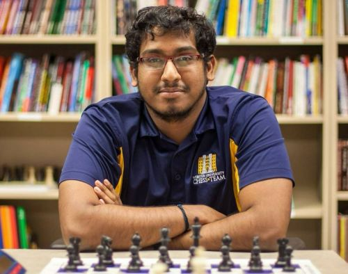 Webster University Chess Club President- GM Kannappan