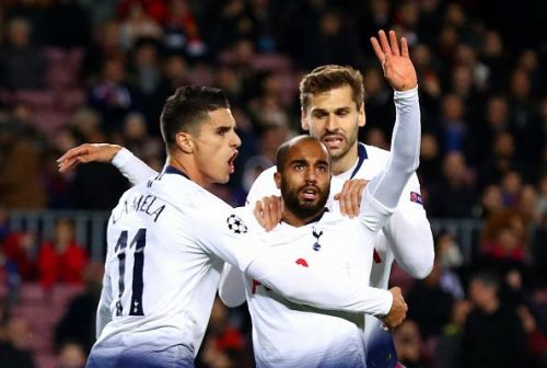 An 85th-minute strike from Lucas Moura brought Tottenham back in the match