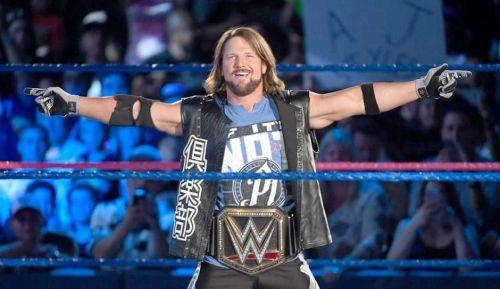 AJ Styles as WWE Champion