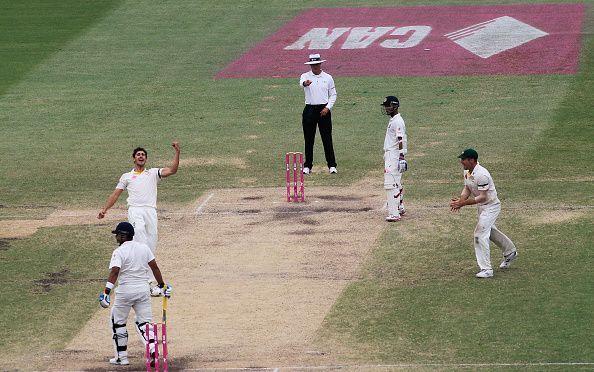 Mitchell Starc in Australia v India