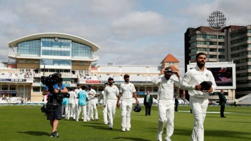 Indian team after winning the third Test Match against England