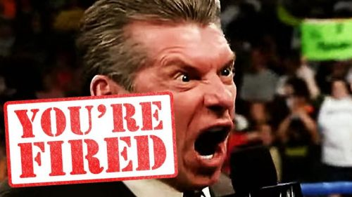 Vince McMahon is no stranger to firing Superstars on TV or behind the camera.