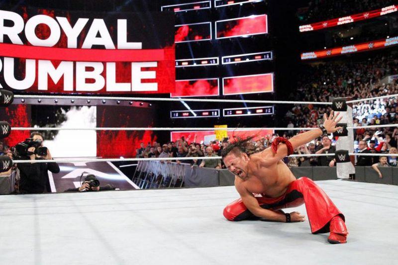 Shinsuke Nakamura after winning the 2018 Royal Rumble