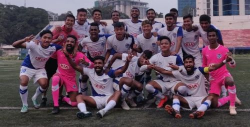 Bengaluru FC 'B' players are overjoyed after winning the BDFA Super Division