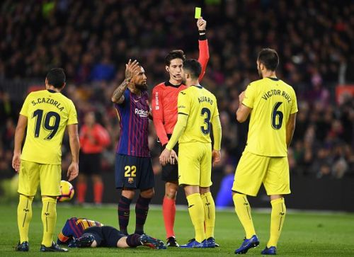 Villarreal was left frustrated and fouled a lot