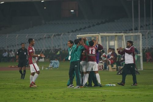 Mohun Bagan players celebrating