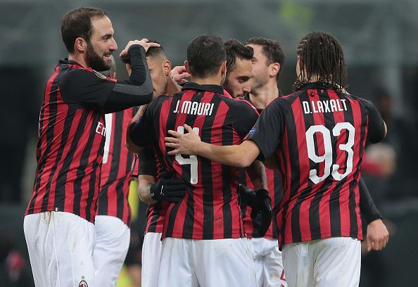 AC Milan will be high on confidence after scoring 5 past Dudelange in the Europa League