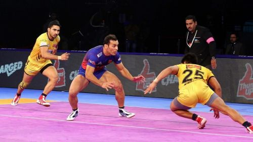Meraj Sheykh was the top scorer for Dabang Delhi KC tonight