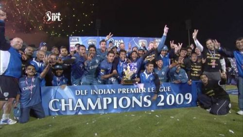 Deccan Chargers won the title in 2009 by beating RCB in the final.
