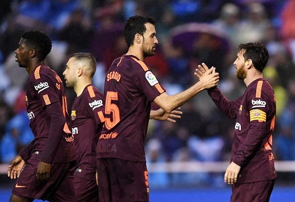Busquets and Messi have shared a good connection on the pitch for a very long time