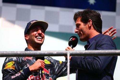Ricciardo and Webber