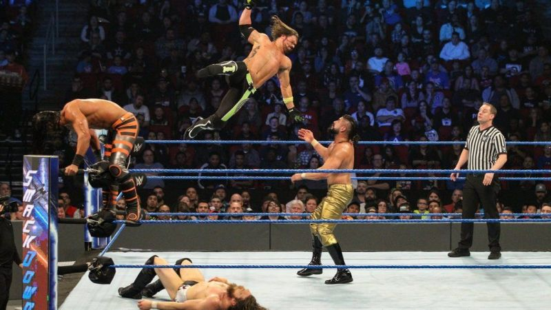 Mustafa Ali got the victory for his team after landing the 054 on WWE Champion Daniel Bryan