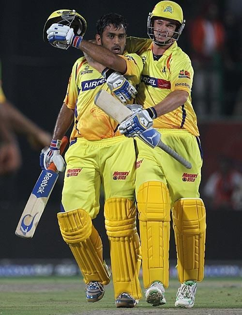 MS Dhoni was pumped up in the run chase
