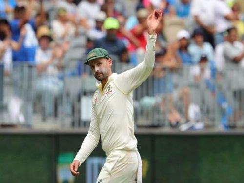 Nathan Lyon won the Man of the Match award in the second Test at Perth